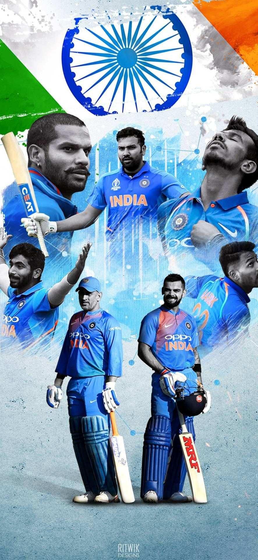 TEAM INDIA in 2020 Cricket wallpapers, Cricket poster