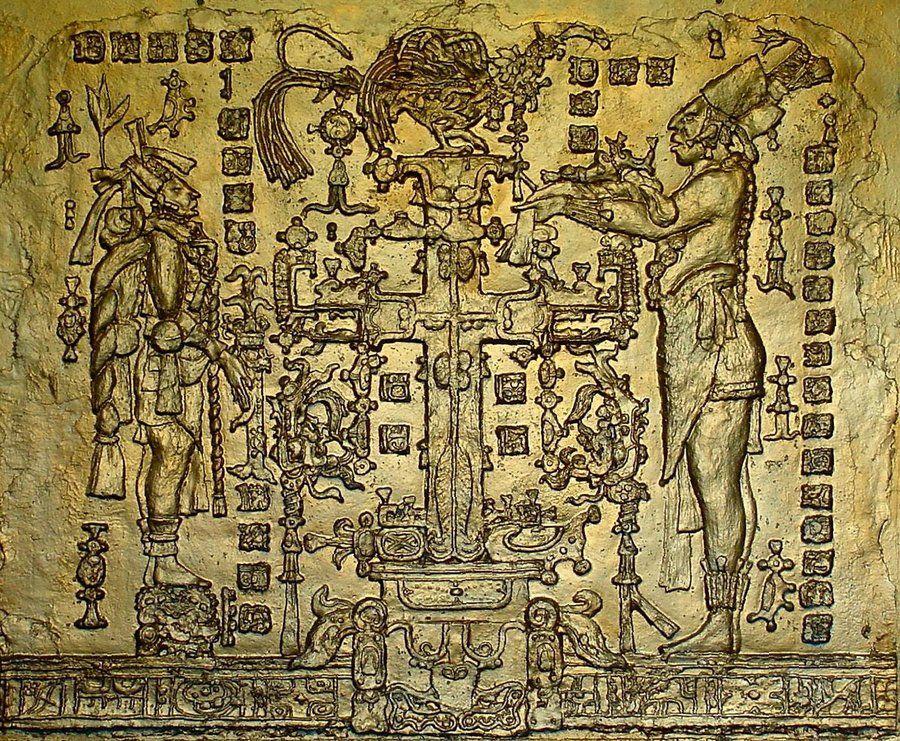 Temple of the Cross Maya Panel 3x4ft by zygzwurx | MAYAN ART ...