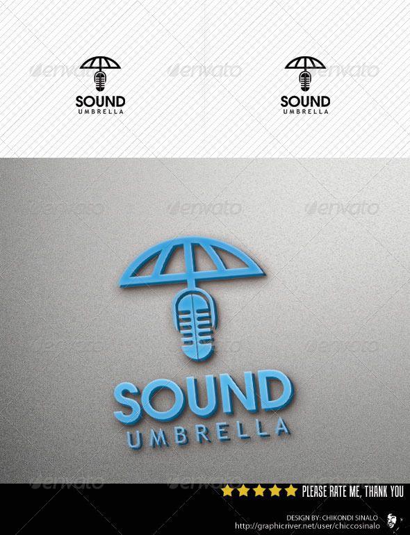 Sound Umbrella Logo Template  Logo Templates Template And Logos