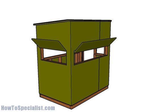 4x6 Shooting House Plans | Pinterest | Deer stand plans, Deer ...