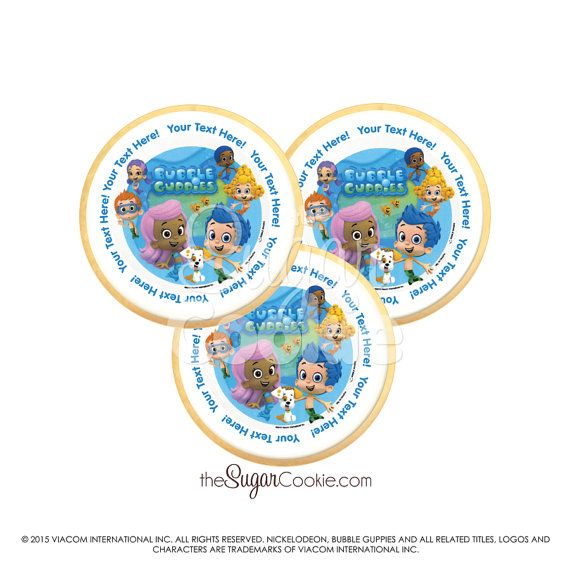 Bubble Guppies Cookie SHIPS IN 3-5 DAYS Custom by PrintACookie ...