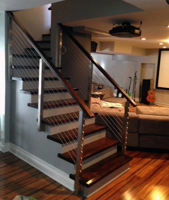 Best Project 93 Side Mount Stair Railing Stairs In 2019 400 x 300