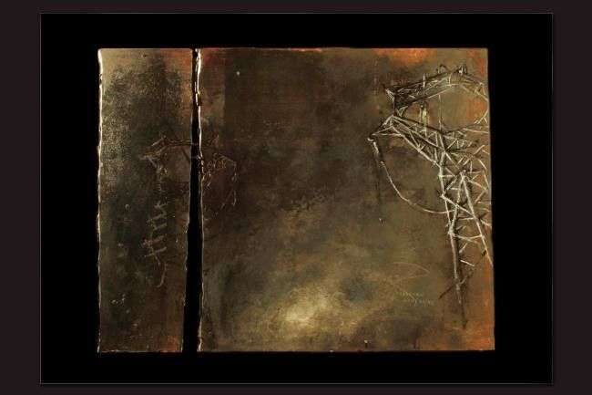 Senza Titolo - Peinture,  120x80 cm ©2012 par Alessandro Carnevale -                            Peinture contemporaine, Archeologia Industriale su ferro