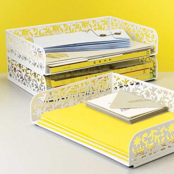 Dot & Bo Decorative Letter Tray ($17) ❤ liked on Polyvore