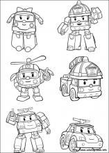 Robocar Poli Coloring Pages On Coloring Book Info Lembar