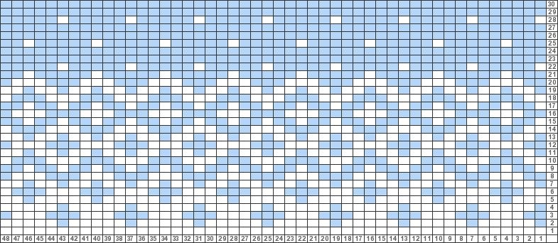 Tricksy Knitter Charts: bicolor fair isle with snow by jovie ...