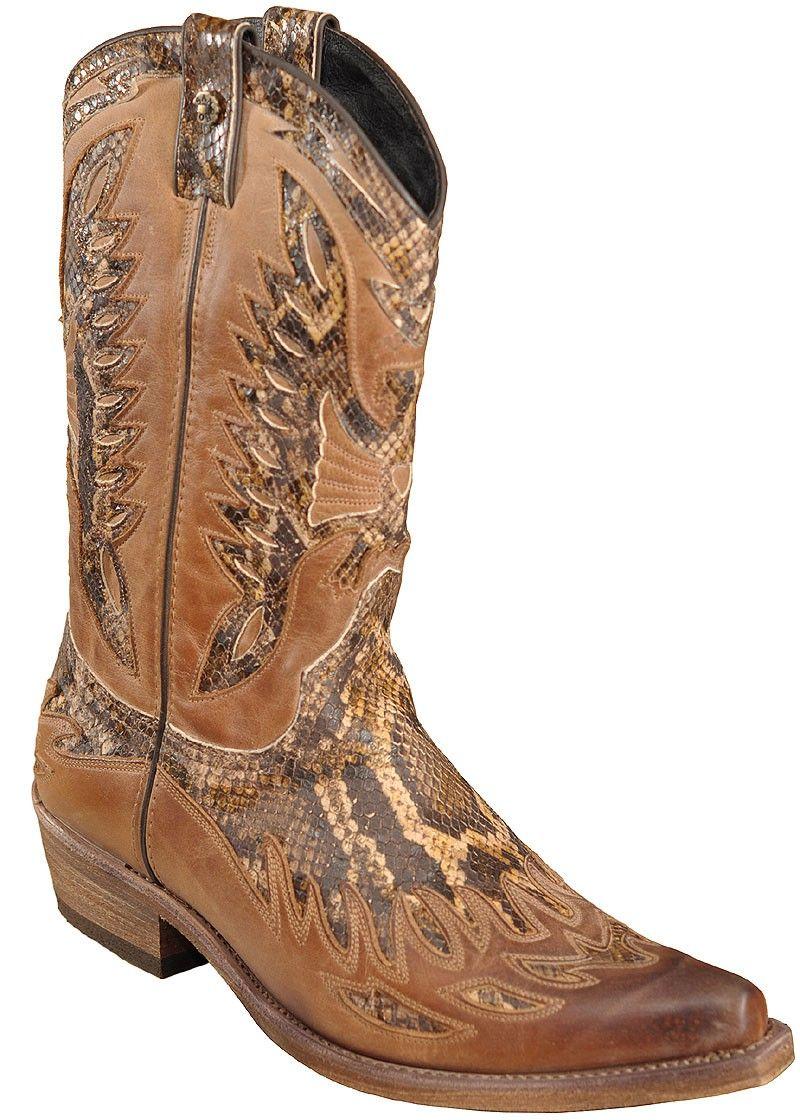 Westernstiefel Boots 9843 Braun Sancho Herren Brown dBrxoCe