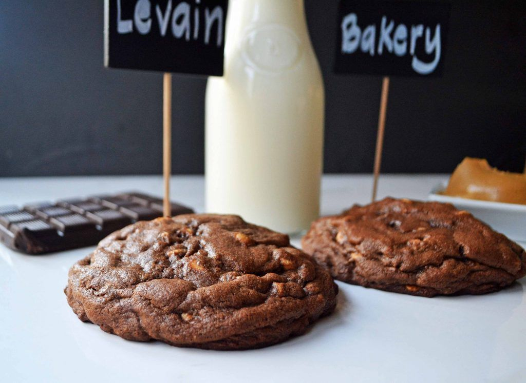 Levain Bakery Dark Chocolate Peanut Butter Chip Cookies By Modern Honey L Www Modernhoney Com In