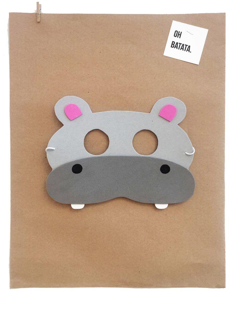 87d52d1aa96 Pin de CASA BATATA en Disfraces Antifaces Animales del Bosque y de la Selva!