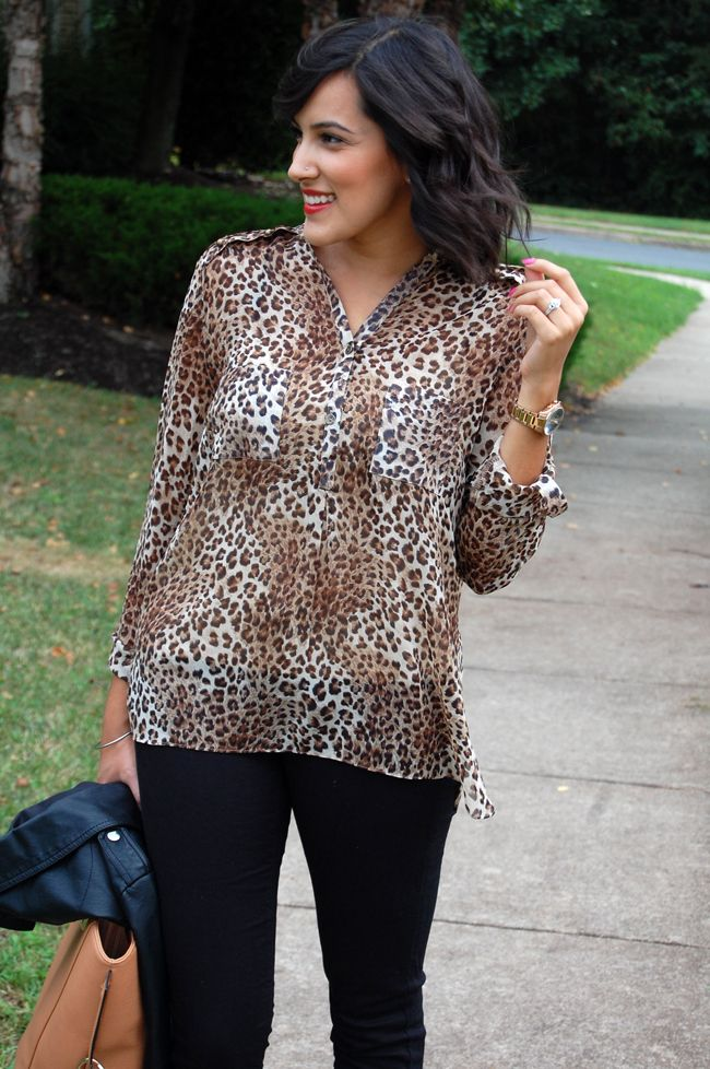 perfect sheer leopard top from @2020AVE
