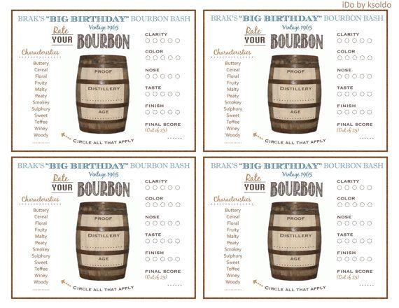 Bourbon Rating Sheet Bourbon Score Card Bourbon Party by ksoldo - sample football score sheet