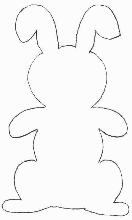 Patroon konijn | Dibujo | Pinterest | Molde, Conejo y Ardilla bebé