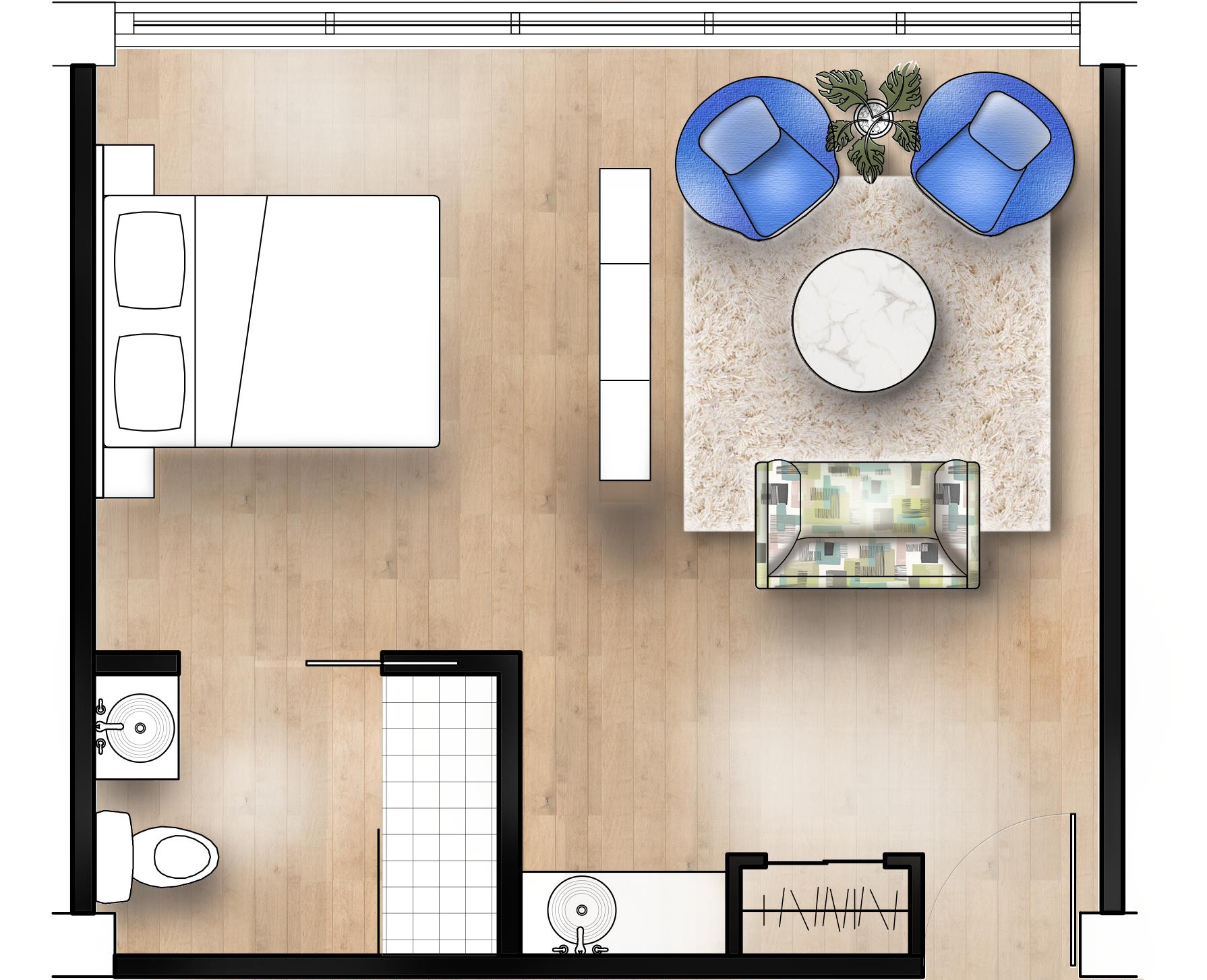 Floor Plan Rendering Of Birthing Suite Healthcare Interior Design Rendered Floor Plan Hospital Design