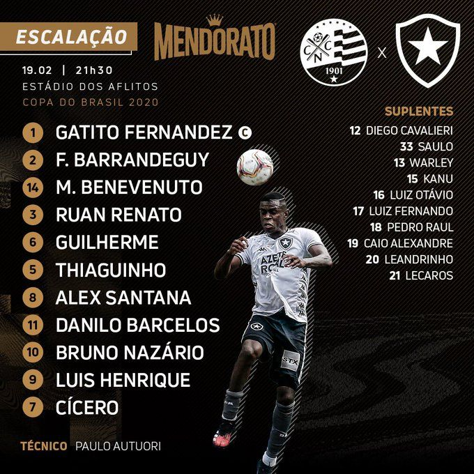 em 2020 Botafogo, Gato