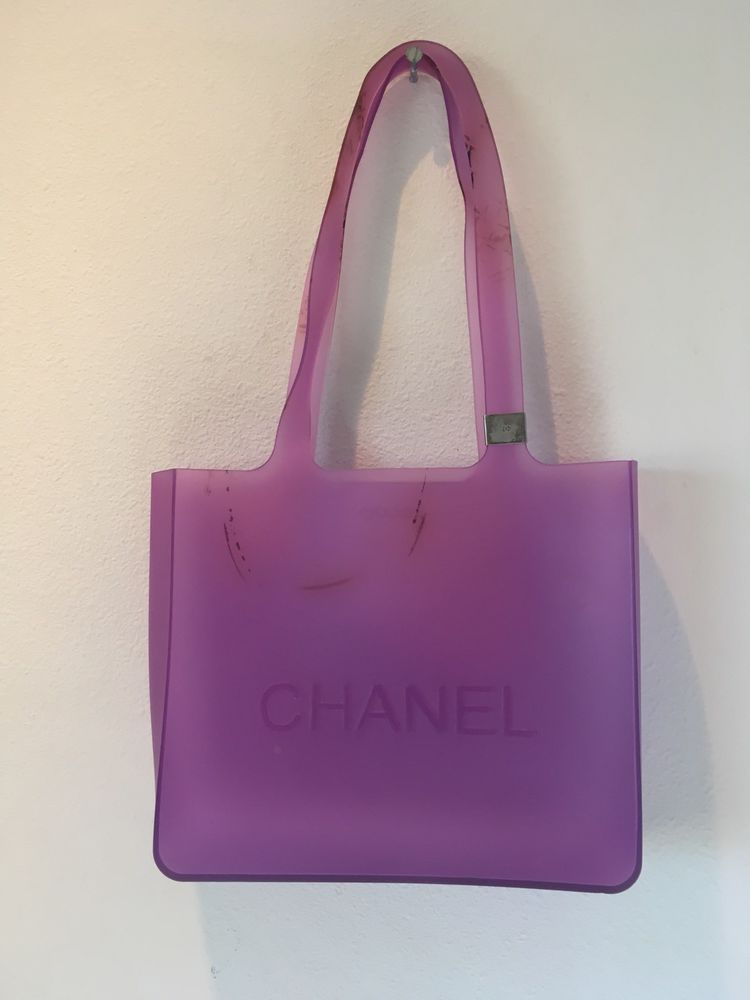 c020c9269004 CHANEL Purple Clear Jelly Rubber Logo Tote Bag. See Description  fashion   clothing  shoes  accessories  womensbagshandbags (ebay link)