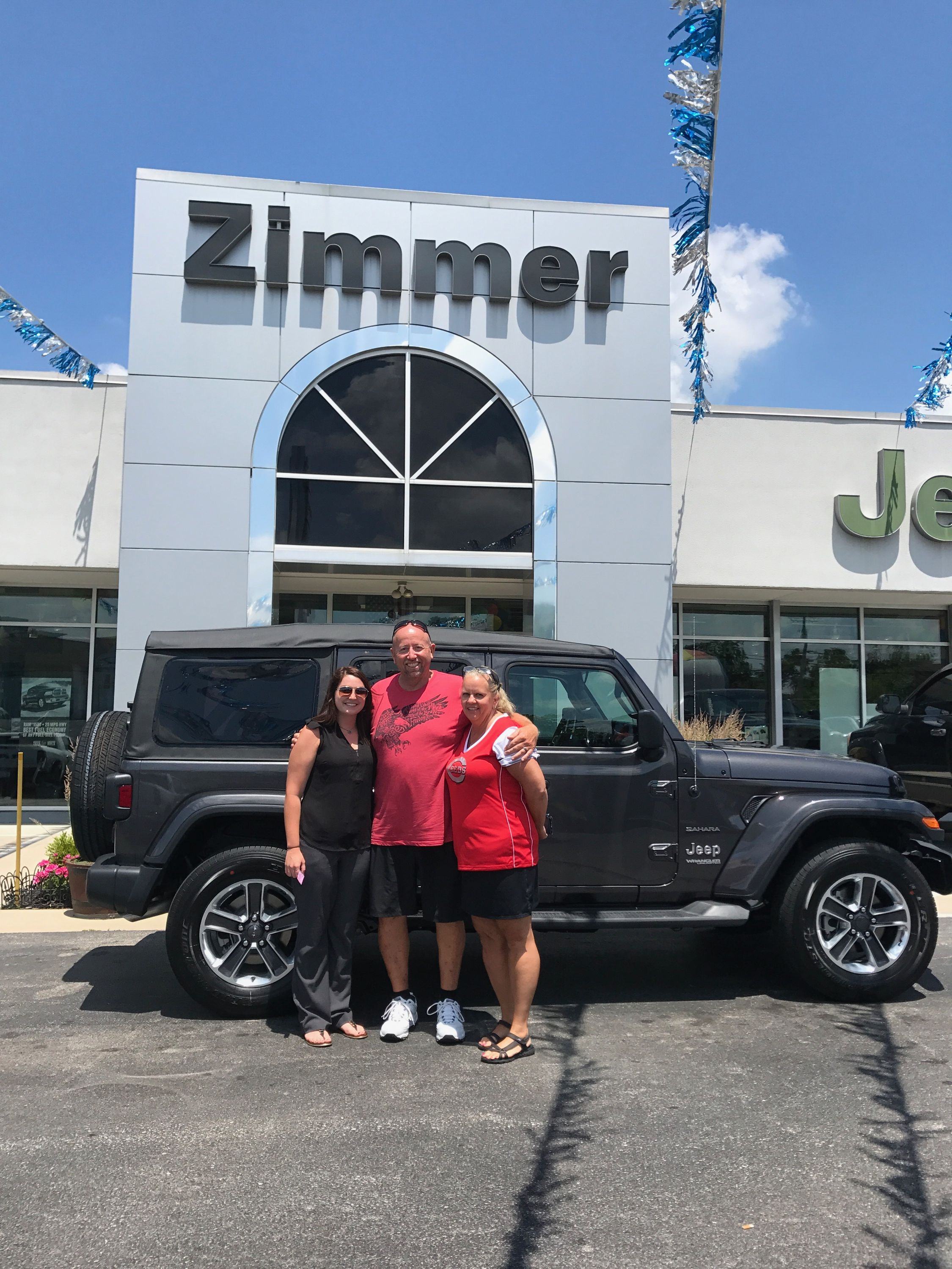David And Lori Lane Are Thrilled To Be Rolling With The Jeep Peeps In Their New 2018 Jl Wrangler Unli Jeep Dealer Chrysler Dodge Jeep Wrangler Unlimited Sahara