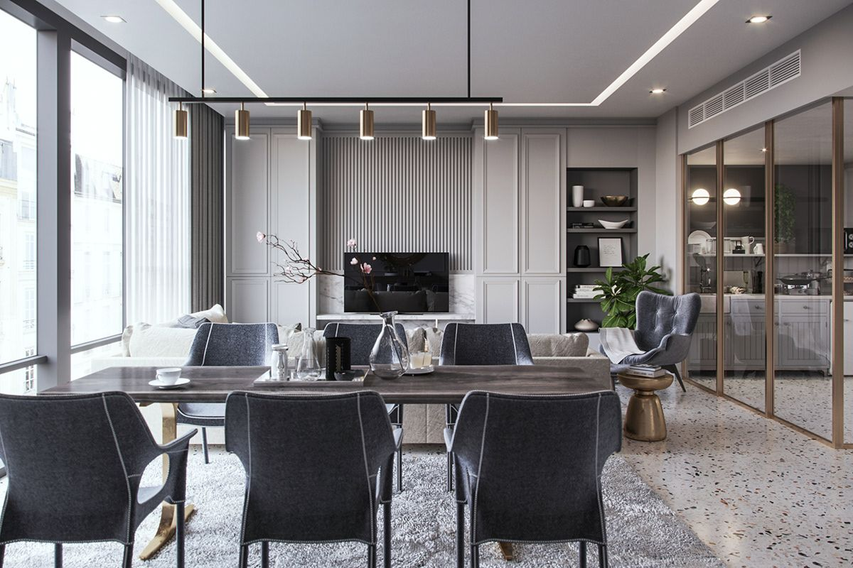 Condo Oq On Behance Apartment Interior Interior Design Minimal