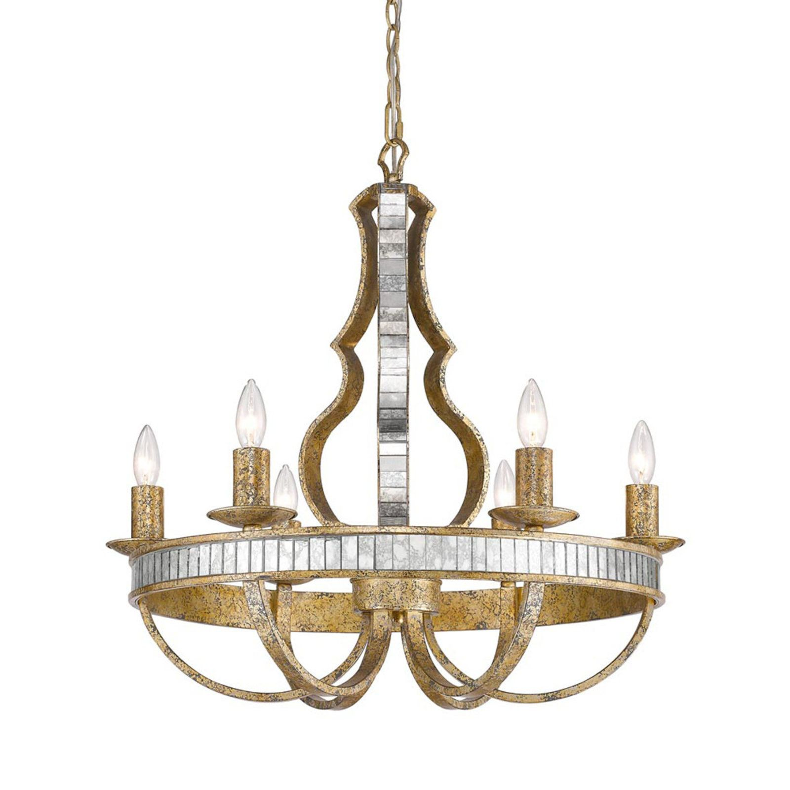Old hollywood glam chandelier 6 light antique mirror tiles old hollywood glam chandelier 6 light shades of light antiqued mirrorantique arubaitofo Image collections