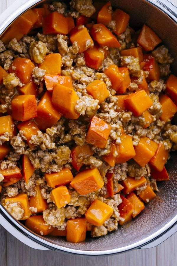 Photo of Delicious pumpkin stew with minced meat
