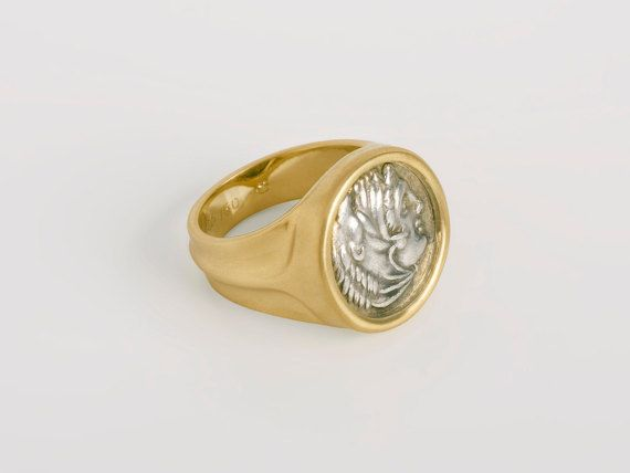 954bb4932a9e4 ON SALE Men's Greek Coin Ring | Antique coin ring for man, Size 7.75 ...