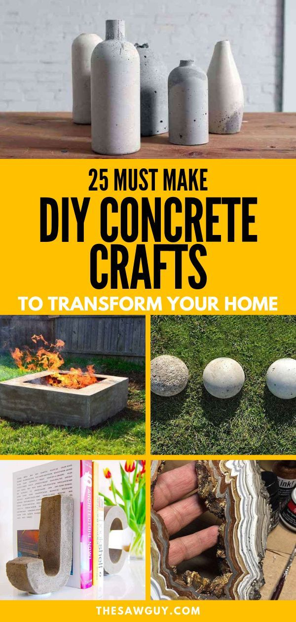 Photo of 25 Must Make DIY Concrete Crafts To Transform Your Home – The Saw Guy