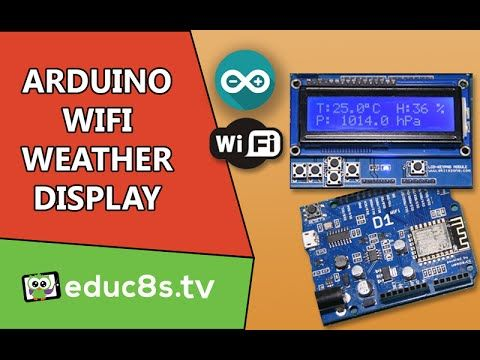 The author built a WiFi Weather display with the Wemos D1