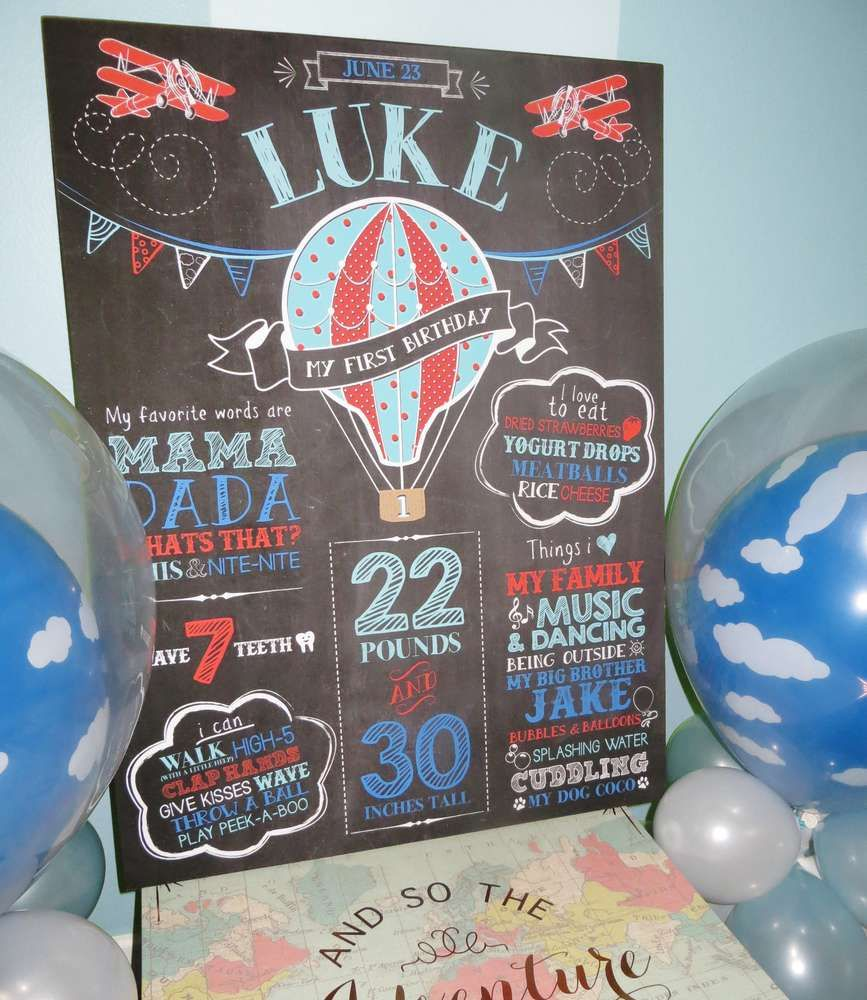 Hot Air Balloon, Airplane Birthday Party Ideas | Cumple, Bautizo y ...