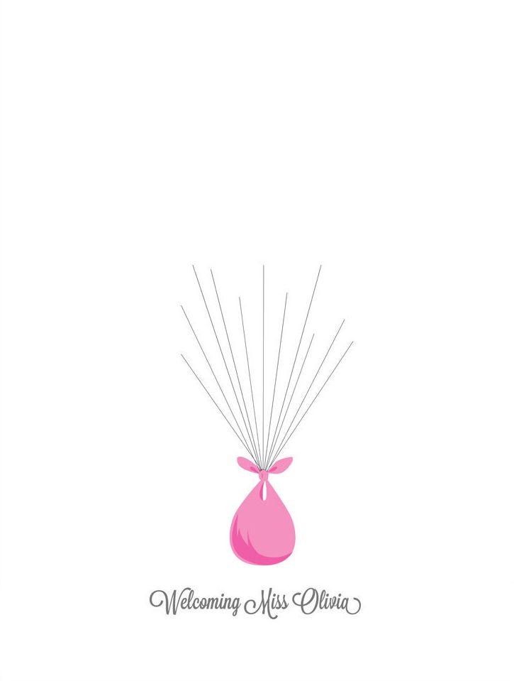 Baby Shower Fingerprint Balloons Baby Shower Girl Baby Shower