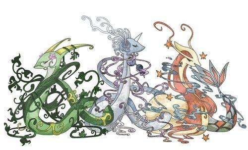 Serperior - Dragonair - Milotic | Pokemon | Pinterest ...