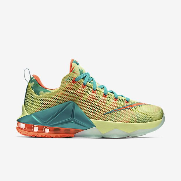 men's nike lebron 12 low premium basketball shoes