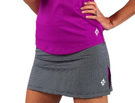 5a7fa5cff84 JoFit Ladies   Plus Size Pull On Tennis Skorts - Redondo Beach (Black    White Polka Dots) Lori s Golf Shoppe  tennis  skort  ntennisboutique