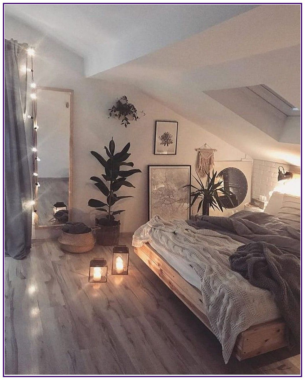 14 cozy decor ideas with bedroom string lights 00013 * aux-pays-des-fleurs.com