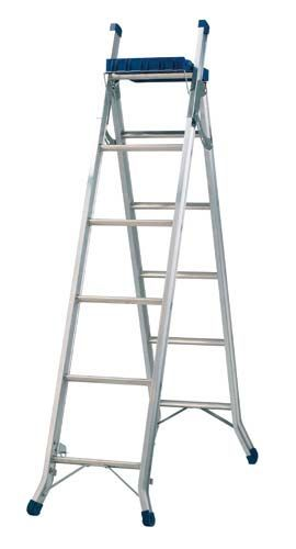 Werner 3 Way Combination Ladder With Tool Tray Combination Ladders Diy Ladder Ladder
