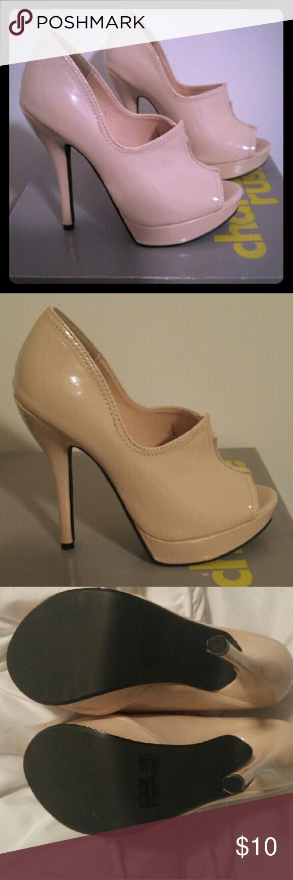 Women's peep toe stiletto heels size 7 Charlotte russe nude color peep toe stiletto heels. Charlotte Russe Shoes Heels