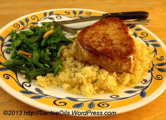 Apricot Glazed Pork Chops with doTERRA Rosemary Oil