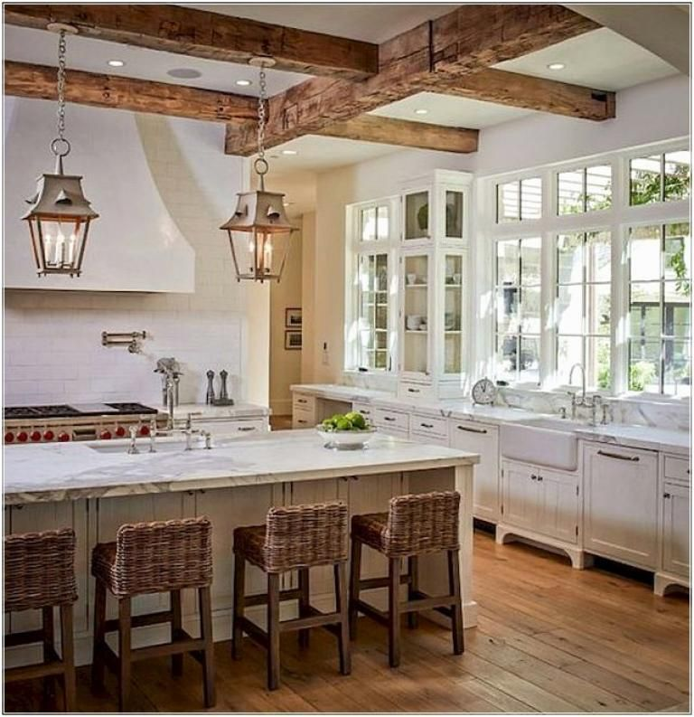 40 Rustic Modern Farmhouse Kitchen Design Ideas #Kitchenideas