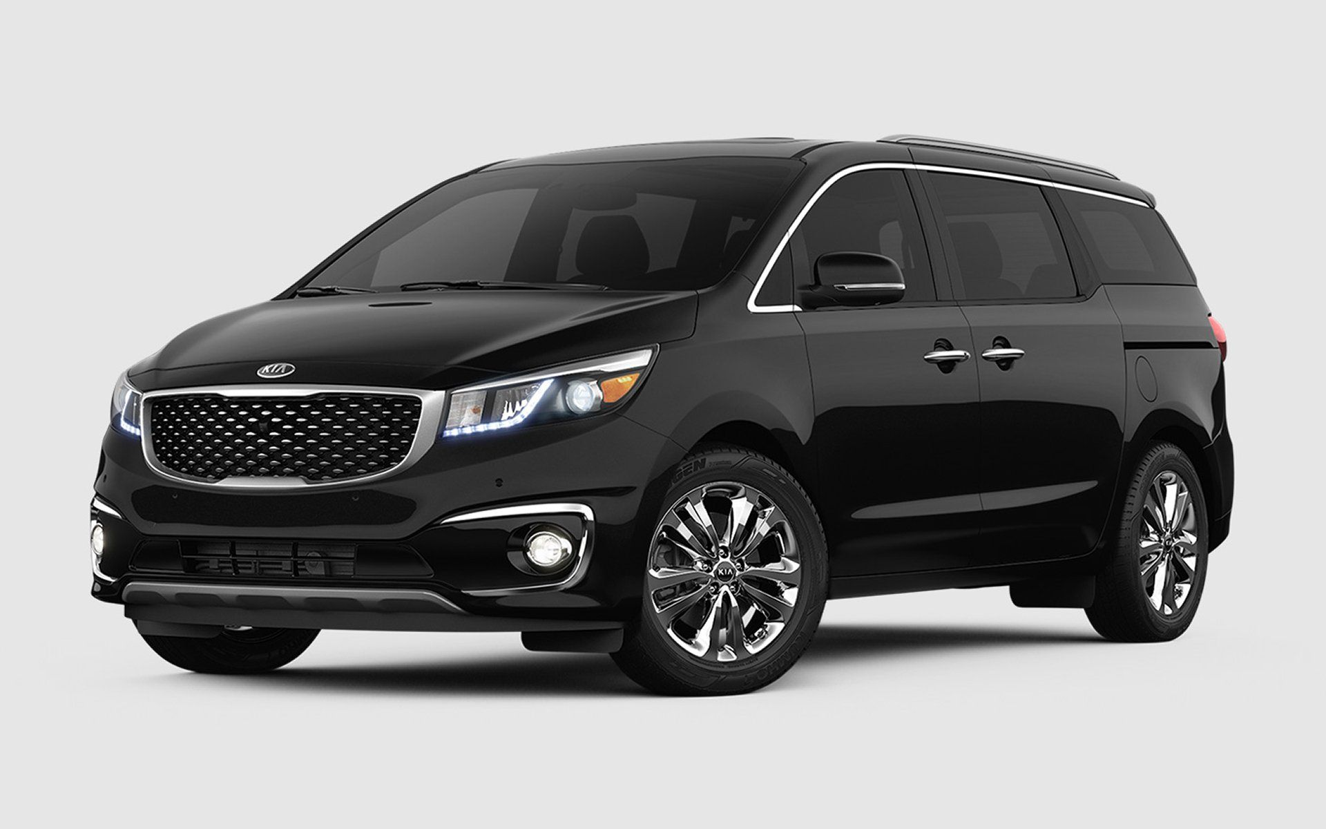 2nd row doesn 39 t fold flat kia sedona ex 33 595 platinum graphite with gray leather larger. Black Bedroom Furniture Sets. Home Design Ideas
