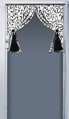 Black White Scroll Locker Curtain Locker Decorations Lockers