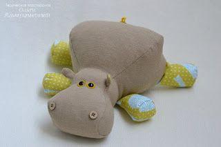 Boneca de Pano: Hipopótamo gracioso-pap