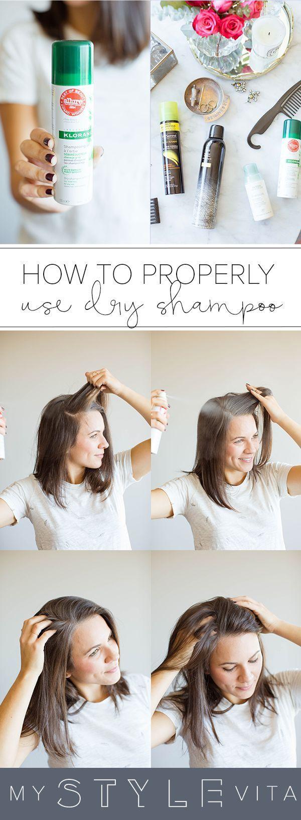 how to properly apply dry shampoo