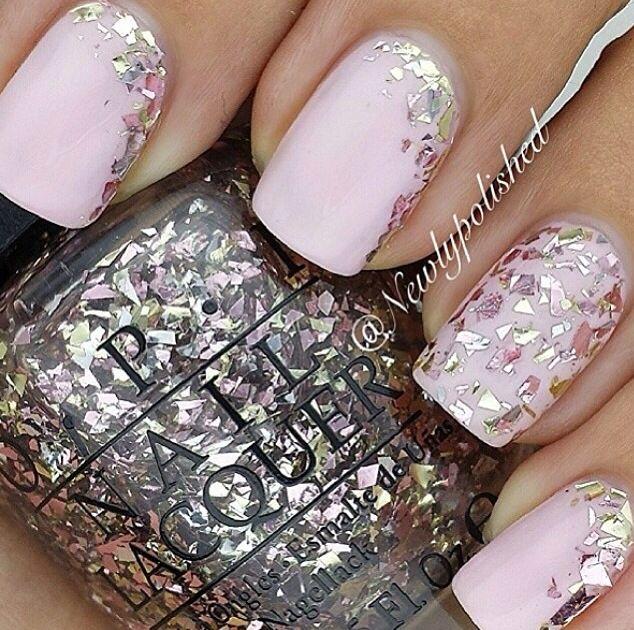 Pink nails#glitter   Nails   Pinterest   Pink nails