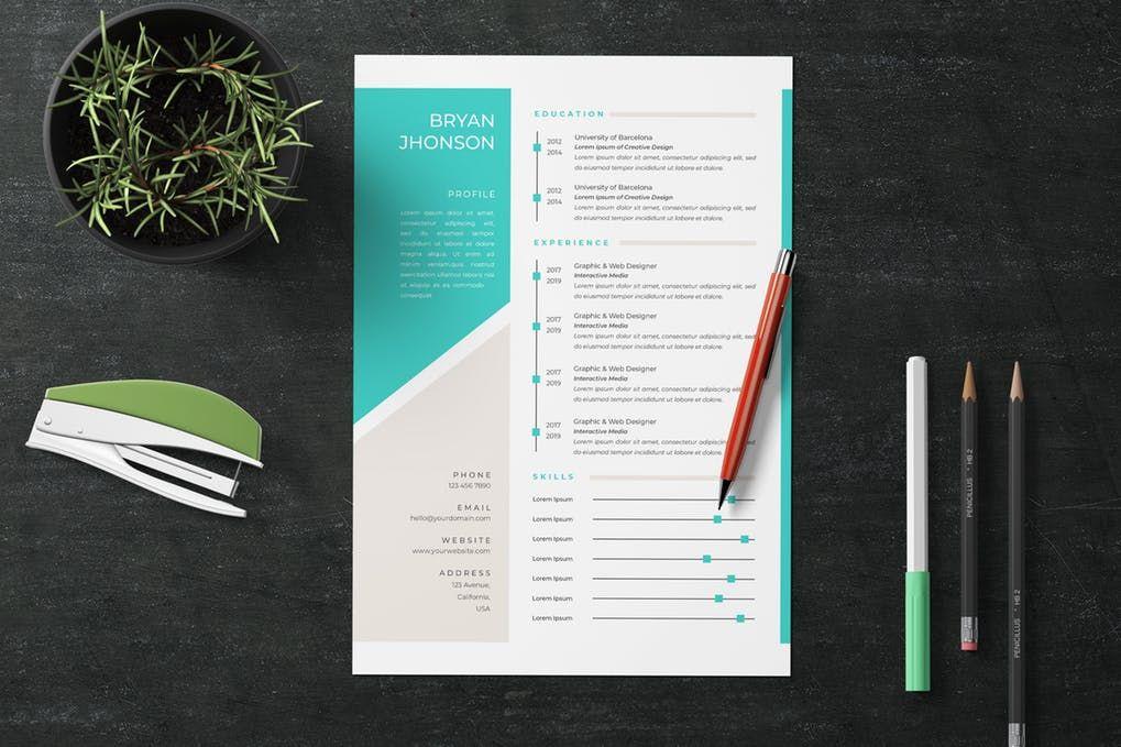 Resume Vol.20 by jiwstudio on Resume, Templates