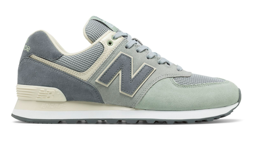 New Balance Men Classics ML574TIV Serpent Luxe, Silver Mint ...