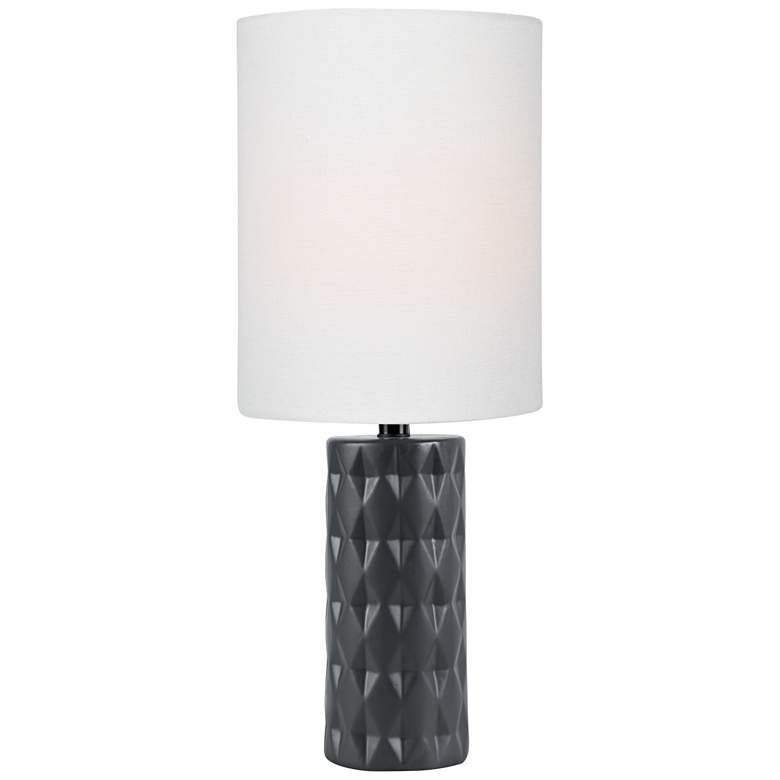 Lite Source Delta 17 H Jet Black Ceramic Accent Table Lamp 56j67 Lamps Plus In 2020 Lamp Fabric Shades Table Lamp