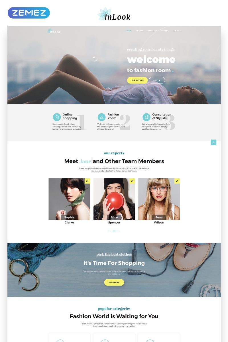 Inlook Fashion Html5 Landing Page Template New Website Templates