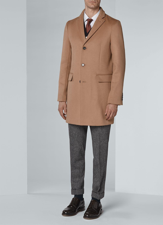 4b7abf223670 Manteau homme en drap de laine   achetez votre manteau camel  17HM3IKOM-A321 11, et découvrez toute la collection de costumes hommes et  vêtements hommes De ...