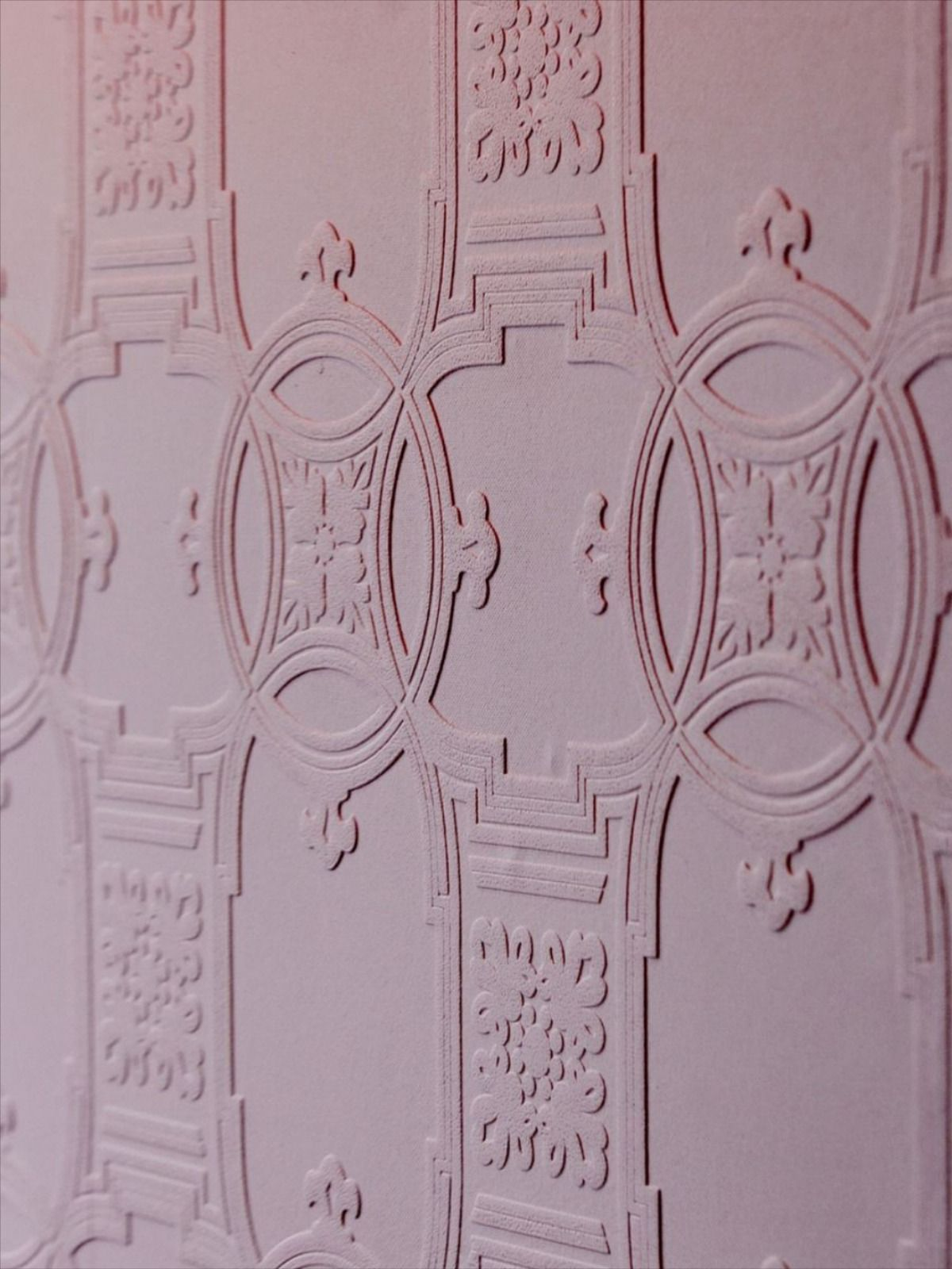 Early Victorian Paintable Textured Wallpaper Anaglypta