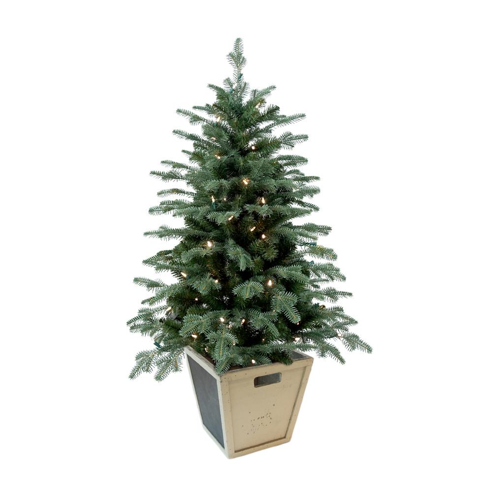 Pre Lit Outdoor Christmas Trees Battery Operated.Home Accents Holiday 4 Ft Pre Lit Balsam Artificial