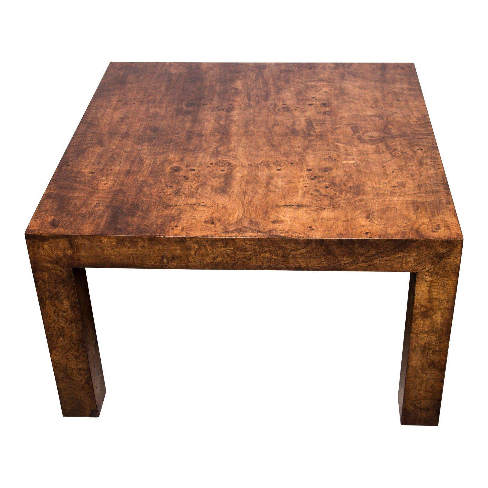 - 1970s Hollywood Regency Burl Wood Coffee Table Coffee Tables For