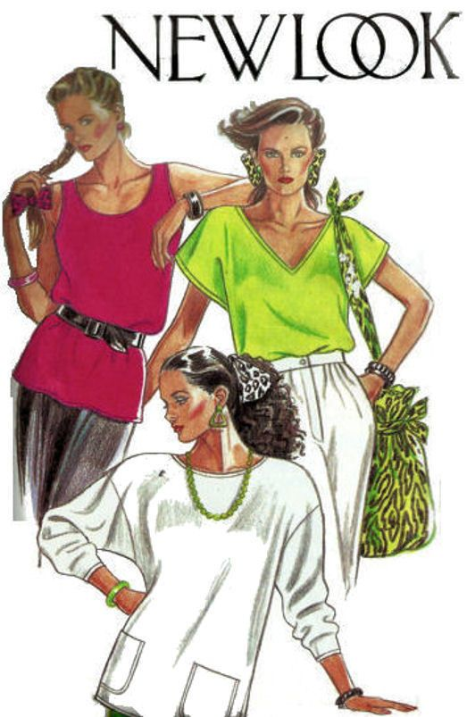New Look 6850 Misses' Fashion Tops or Tank Sewing Pattern Size 8 to 18  #NewLook